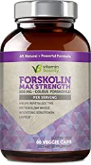 Vitamin Bounty - Forskolin 500mg - 60ct  All Natural & Powerful formula, shown to boost serotonin levels and improve overall bodily function. Coleus forskohlii is a great way to supplement a healthy lifestyle. Our Forskolin is premium qua...