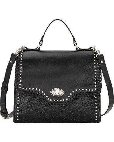 West Full Flap (American West Hidalgo Top-Handle Convertible Flap Bag, Black)