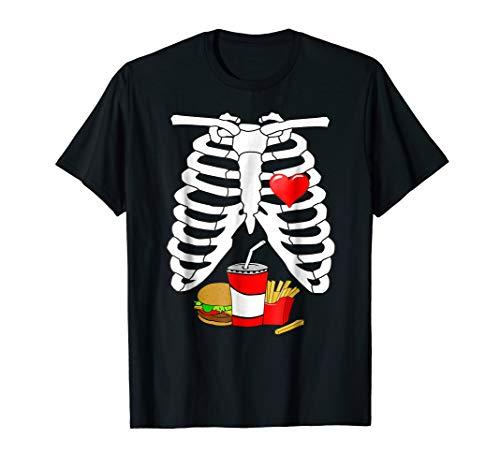 Halloween Skeleton Ribs Food (X-ray Skeleton Ribs Halloween Junk Food Costume)