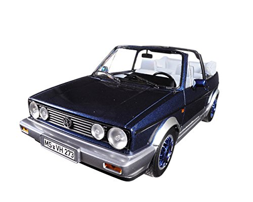 Norev 1:18 1992 Volkswagen Golf Cabriolet  - Blue Metallic - NV188404