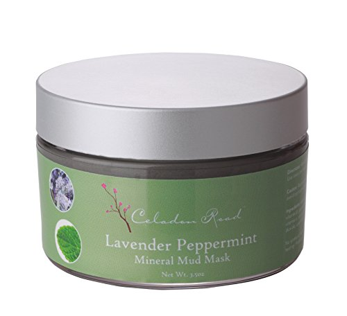 Celadon Road Mineral Mud Mask Lavender Peppermint MADE IN USA Organic Ingredients. Clarifies Acne Breakout Spot Treatment, Anti-Aging Face & Skin 3.5oz made in Rhode Island