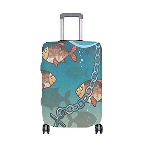 Luggage Cover Anchor In The Water Near Tropical Island Travel Case Suitcase Bag Protector 3D Print Design (Island Sectional)