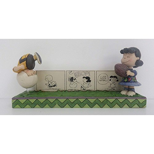 Peanuts by Jim Shore Charlie Brown & Lucy Comic Strip Figurine ()