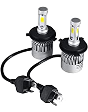 H4 LED Car Headlights with Luminous 8000LM COB 6500K White Light Bulbs