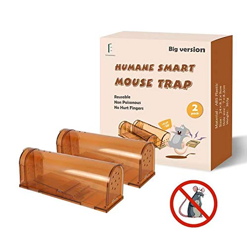 Extra Large Humane Smart Rodent Trap, Live Catch Release, Kids/Pet Safe, Easy to Set, Reusable, Indoor/Outdoor Use, for Mouse/Rats/Chipmunks/Moles Catcher That Works. 9.45