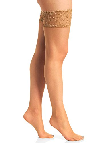- Berkshire Women's Silky Sheer Sexyhose Stockings - Sandalfoot, City Beige, C-D