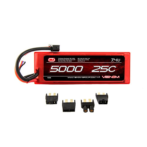 Venom 25C 2S 5000mAh 7.4V Hard Case LiPo Battery with Universal Plug (EC3/Deans/Traxxas/Tamiya)
