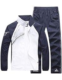 FieerMen Skinny Plus Size Summer Outdoor Short Sleeve Jogger Tracksuit Set