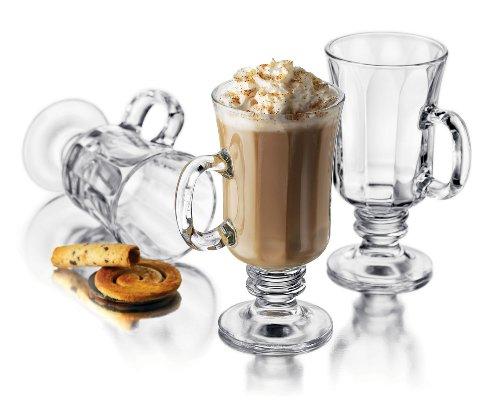 Libbey Milan 8-1/4-Ounce Irish Coffee Mug in Optic, 4-Pie...