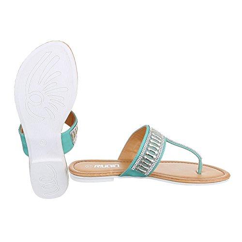 Ital-Design - Zapatos con tacón Mujer Verde