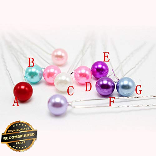0pcs Women Pearl Hairpin Party Wedding Bride Hair Clip Pins Hair Accessories | Style HRCL-M182012252 ()