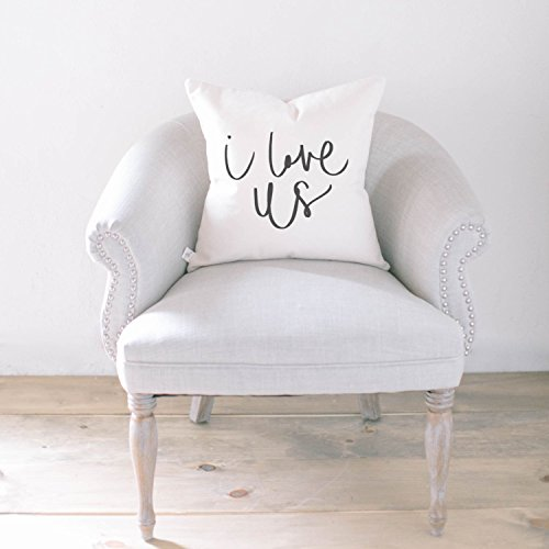 Pillow Cover - I Love Us, home decor, present, housewarming gift, cushion cover, throw pillow, cushion, pillow case