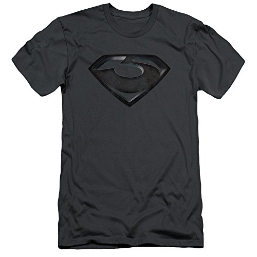 The Man Of Steel Zod Shield Charcoal Slim Fit Unisex Adult T Shirt For Men and Women (General Zod T Shirt Man Of Steel)