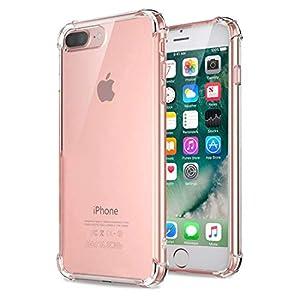 Coque iPhone 7 Plus, Coque iPhone 8 plus, Jenuos Transparent Doux Souple Extrêmement Fin Housse TPU Silicone Etui pour…
