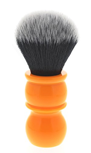 Yaqi R1710 Butterscotch Orange Tuxedo Synthetic Shaving Brush
