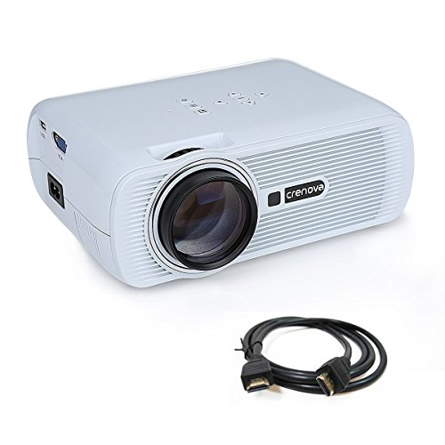 Best Seller in Office Overhead Supplies Projector, Crenova XPE460 LED Video Projector 1080P 1200 Lumens Office Projector with Free HDMI for Home Cinema