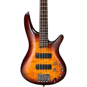 ibanez sr400qm electric bass guitar brown burst musical instruments. Black Bedroom Furniture Sets. Home Design Ideas