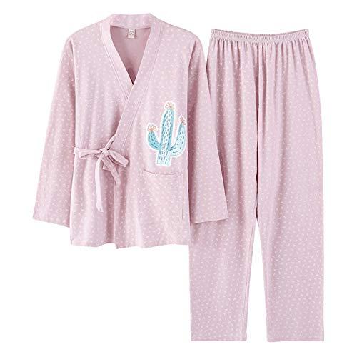 In Yukata Pantaloncini Meaeo Maniche Lunghi Cotone 100 A Corte Set Photo Da Estivi Donna Color Homewear Pigiami qXAq8Y