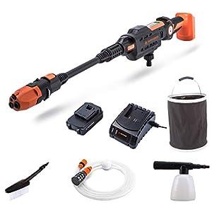 Yard Force Nettoyeur Haute-Pression Aquajet 22Bar 20V sans Fil avec Batterie Li-ION 2.5Ah, Chargeur et Accessoires LW…