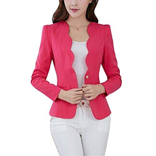 Perfues Women Slim Office Business Blazer Suit Casual Jacket Female Coat Outwear by Perfues