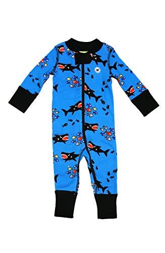 Moodie Baby Boy 2-Way Zip Up Footless Onesie Romper, Coverall Sleeper Pajamas (Infant - Toddler) ... (Shark Attack, 12-18mths) (Best Toddler Bed Australia)