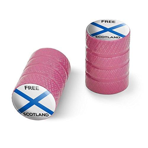 オートバイ自転車バイクタイヤリムホイールアルミバルブステムキャップ - ピンク無料スコットランドスコットランド独立党