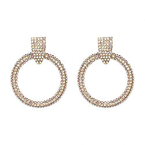 13 Colors Statement Vintage Earrings Crystal Hoop Earring Women Wedding Party Jewelry Ab ()