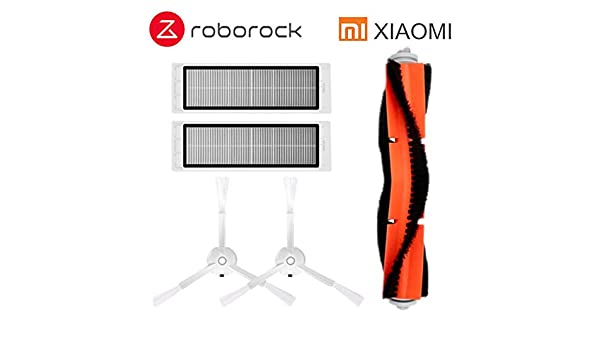 Amazon.com: HBK Suitable for Xiaomi Roborock Robot S50 S51 Vacuum Cleaner Spare Parts Kits Filter Side Brush Roll Brush: Home & Kitchen