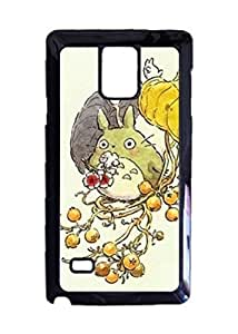 Engood Design My Neighbor Totoro Likes Flowers Case Durable Unique Design Hard Back Case Cover For Samsung Galaxy Note 4 New