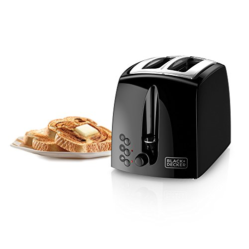 BLACK+DECKER TR1210BD 2-Slice Extra Wide Slot Toaster, Black/Stainless Steel