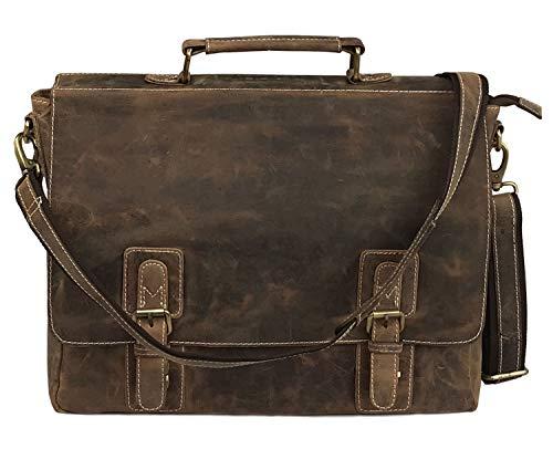 16 Inch Vintage Handmade Leather Messenger Bag for Laptop Briefcase Best Computer Satchel School distressed Bag (Toms Cords)