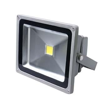 2 x Auralum® IP65 30W Proyectores LED Proyectores grises focos de las luces exteriores de la construcción (paquete blanco de 2)