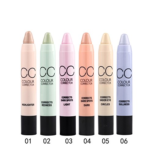 Scala 6pcs/lot Pro Makeup Concealer CC Pencil Face Care Beauty Cosmetic Color Corrector Concealer Stick (Makeup Corrector Pen)