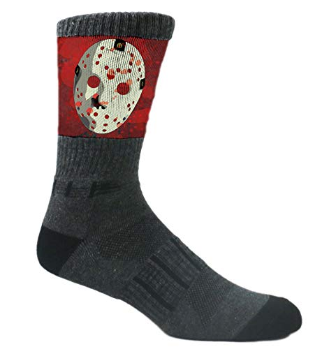 MOXY Socks Black Hockey Mask Slasher Athletic Crew ()
