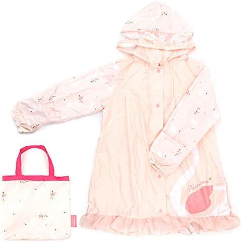 防水 キッズレインコート 子供ベビーフード付きポンチョブルー環境保護Hatは耐性レインコートバレエガール柄レインコートを着用してください 梅雨対策 アウトドア