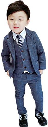 男の子スーツ 子供服 フォーマルスーツ 3点セット チェック柄 子供スーツ 紳士服 裏起毛 卒園式 入園式 七五三 結婚式 発表会 90CM 100CM 110CM 120CM 130CM 140CM DY753