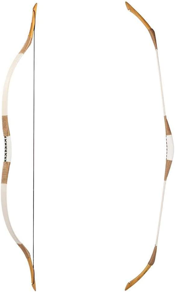 PG1ARCHERY Traditional Handmade Longbow Horsebow Archery Recurve Bow with Wooden Arrows /& Arm Guard /& Finger Tab 20-110lbs