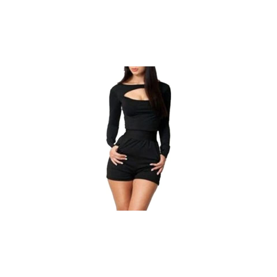 Sexy Women Long Sleeve Party Clubwear Cocktail Evening Dress Bodycon Jumpsuits