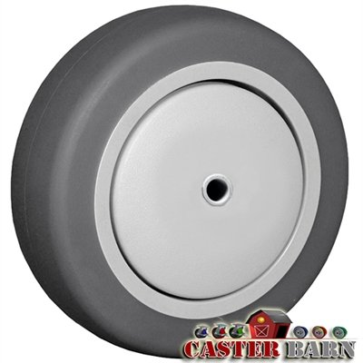 CasterHQ 5'' X 1-1/4'' GRAY THERMO RUBBER (NON MARKING) WHEEL - 300 LBS CAPACITY - Commercial / Industrial Application - Caster wheel replacement - Shock Absorbant