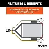 CURT 57220 Trailer-Side 4-Pin Flat Wiring Harness