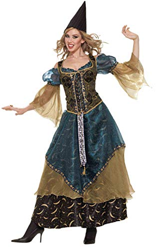 Deluxe Witch Costume - Forum Novelties Women's Designer Collection Deluxe Wizardess Costume, Multi, Large