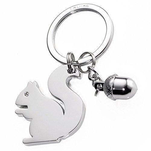 Troika Girls Best Friend Squirrel with Acorn Key Tag (KR1530CH) by Troika