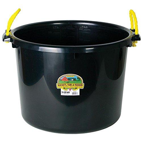 Horse Feed Storage - Miller CO Muck Tub, 70 quart, Black