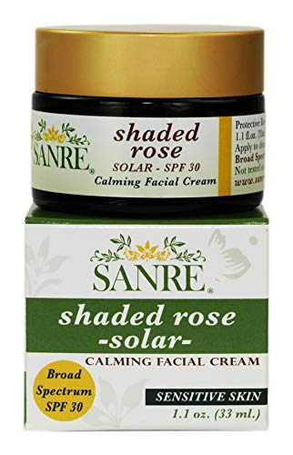(SanRe Organic Skinfood - Shaded Rose - Organic Rose and Coconut Healing Day Cream For Irritated/Psoriasis and/or Eczema Prone Skin - SPF 30)