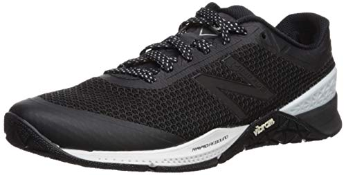 New Balance Men's 40v1 Minimus Cross Trainer, Black/White/Metallic Silver, 13 D US