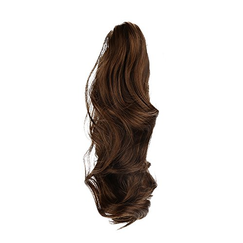 Willsa Womens Claw Thick Wavy Curly Short Ponytail Horsetail Clip Hair Extensions -