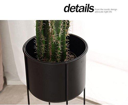 BR Simple fleur étagère en métal fer cadre salon salon salon jardin debout plante titulaire avec pot de fleurs (taille : Small) 95165f