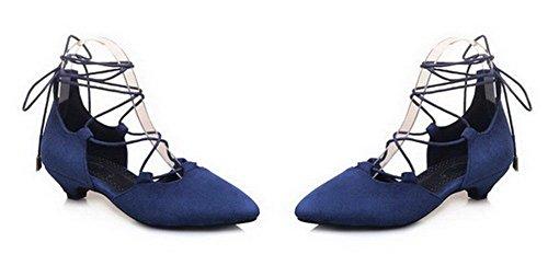 Puro Donna Agoolar Chiusa Gmmla007832 Azzurro Sandali Tacco Plastica Basso Punta Allacciare 0adw7aq