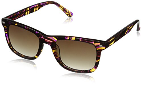 Betsey Johnson Women's Taylor Retro Square Sunglasses, Brown Multi, 51 - Steve Sunglasses Maden