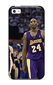 Durable Defender Case For Iphone 5c Tpu Cover(los Angeles Lakers Nba Basketball (1) )